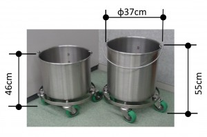 buckets with casters